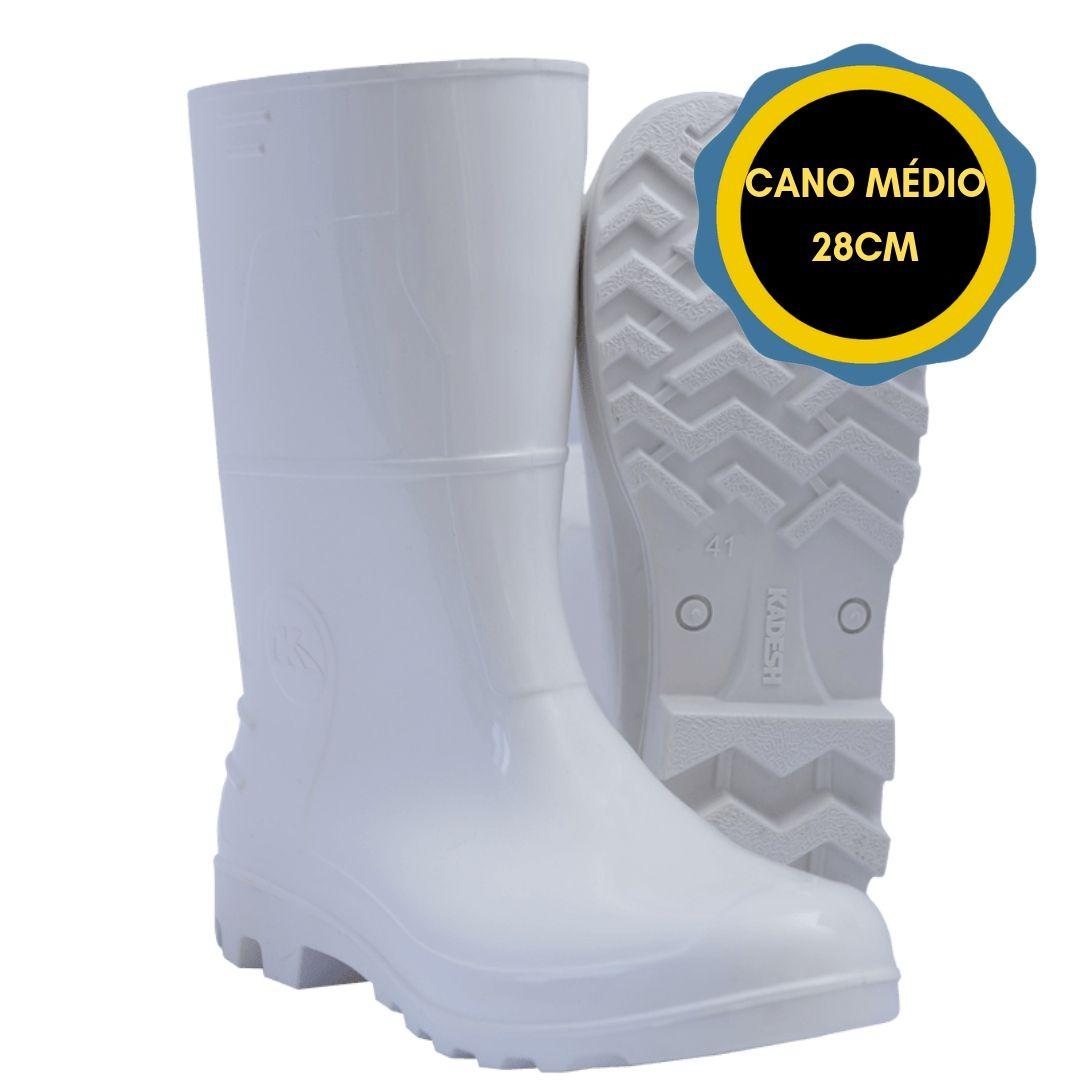 BOTA DE PVC SAFETY BOOTS CANO MEDIO 28CM CF KADESH - BRANCA  - DE PAULA EPI