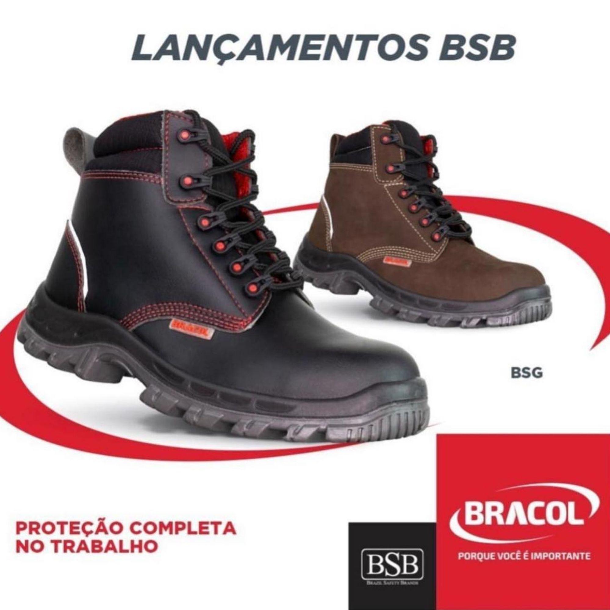 BOTINA DE SEGURANÇA MICROFIBRA BRACOL  4018BSGM4700LL- CA42015  - DE PAULA EPI