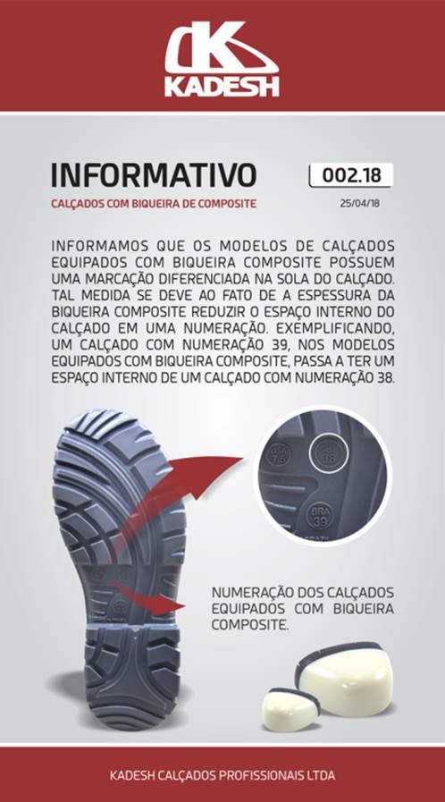 BOTINA SEGURANÇA ELETRICISTA HIDROFUGADA BIDENSIDADE BICO COMPOSITE - PRETO - KADESH - CA:36.071  - DE PAULA EPI
