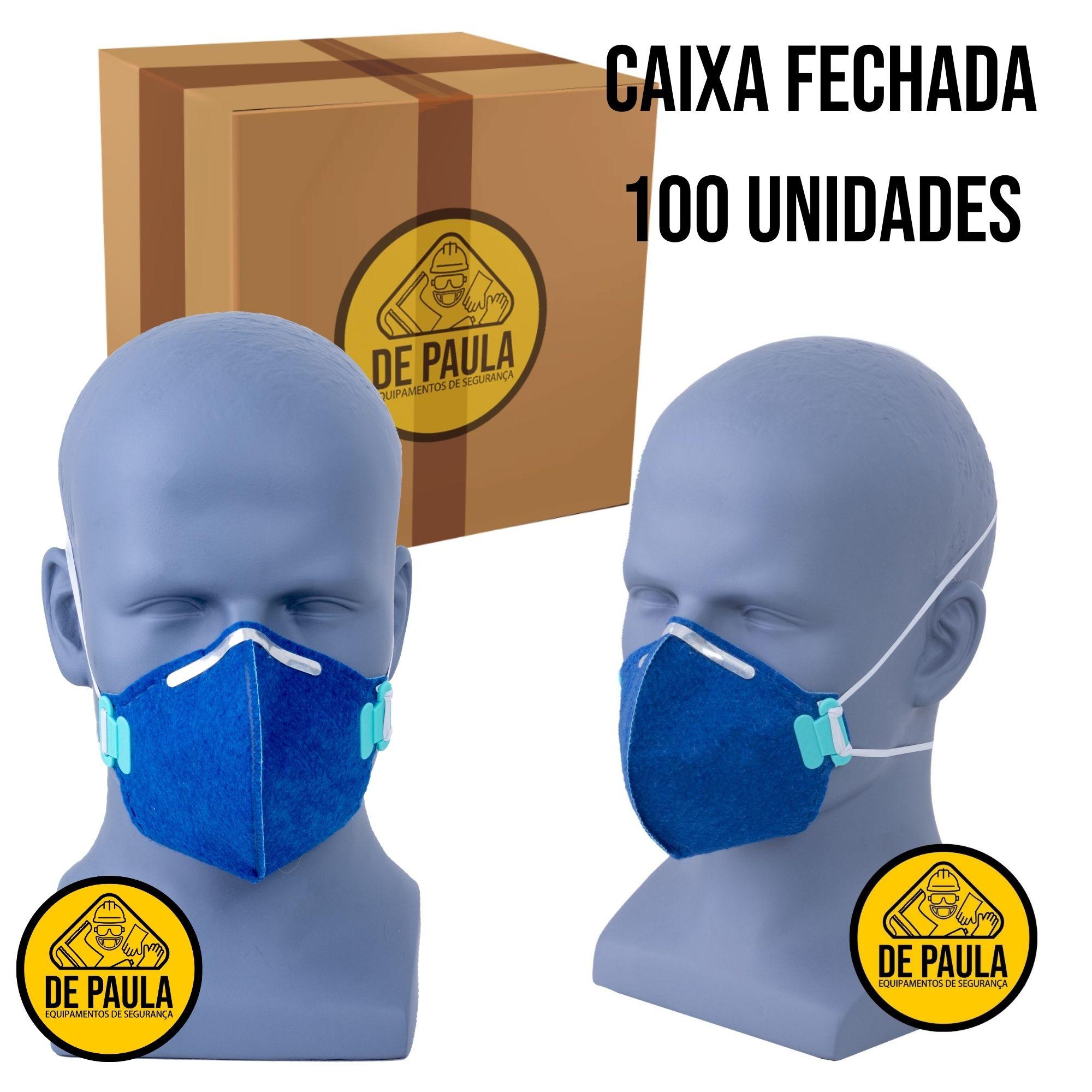 CAIXA COM 100 UN MASCARA DESCARTÁVEL PFF1 SEM VALVULA LUBEKA  - DE PAULA EPI