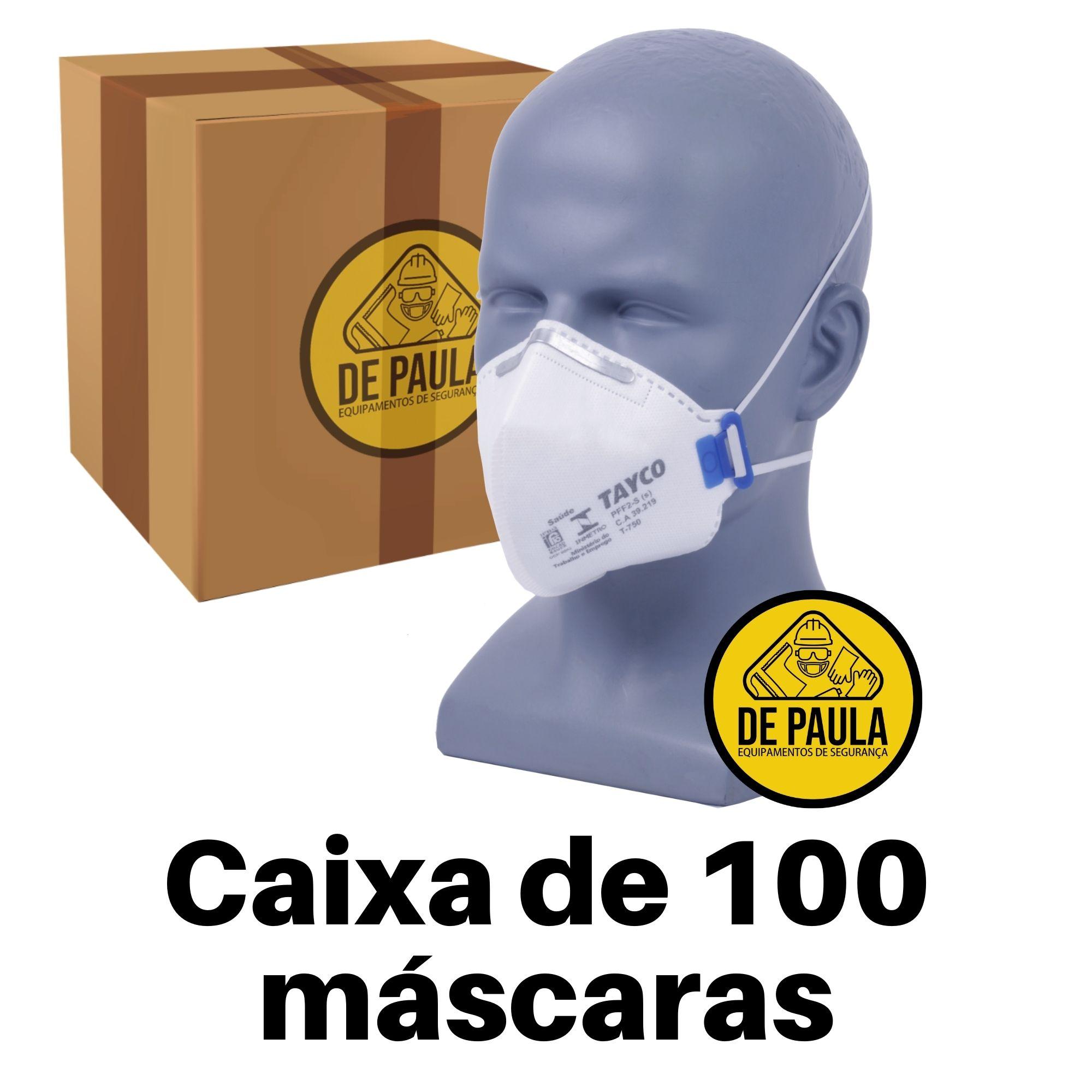 CAIXA DE 100 UNID - MASCARA PFF2  -S SEM VALVULA BRANCA TAYCO  - DE PAULA EPI
