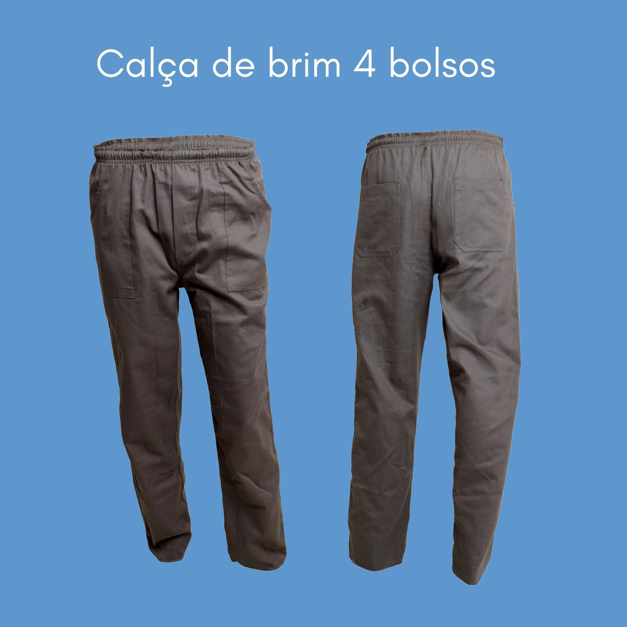 CALÇA PROFISSIONAL TRABALHO DE BRIM CINZA  - DE PAULA EPI