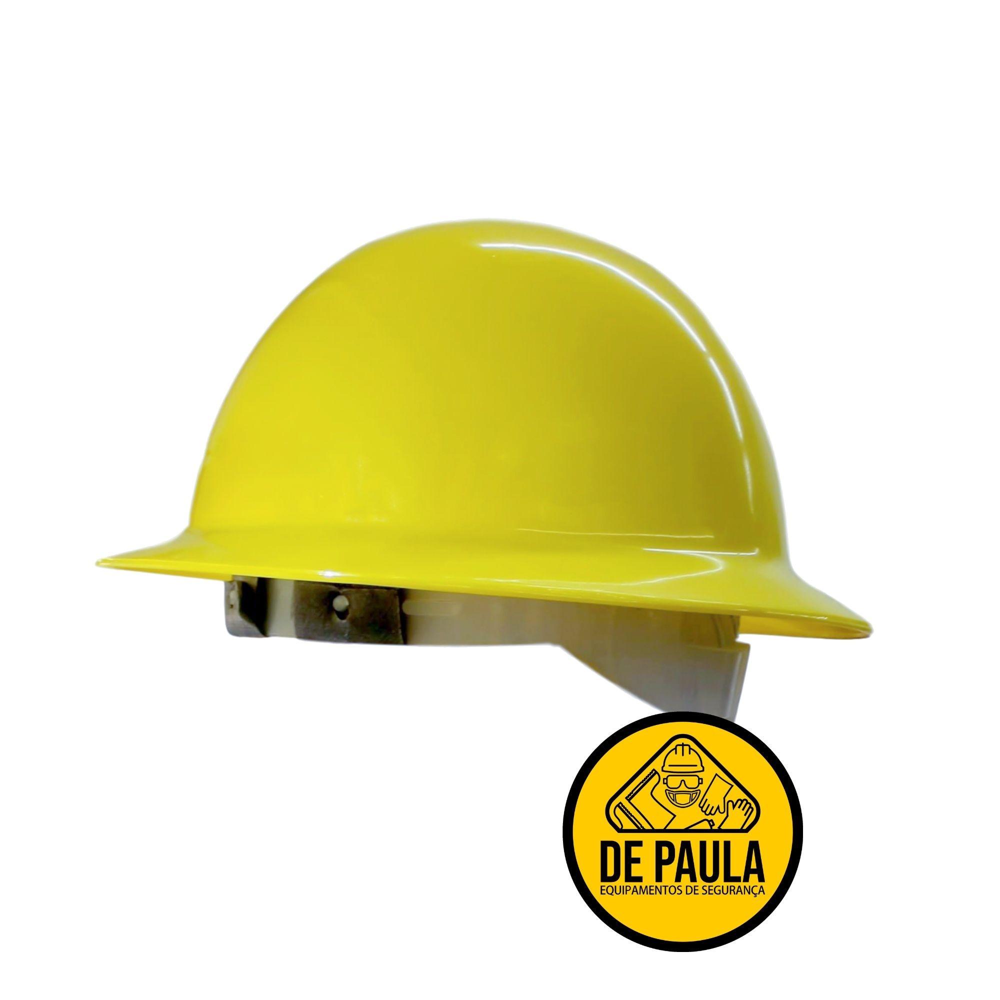 Capacete Aba Total Classe B  Eletricista Várias Cores com jugular -  C.A. 25883  - DE PAULA EPI