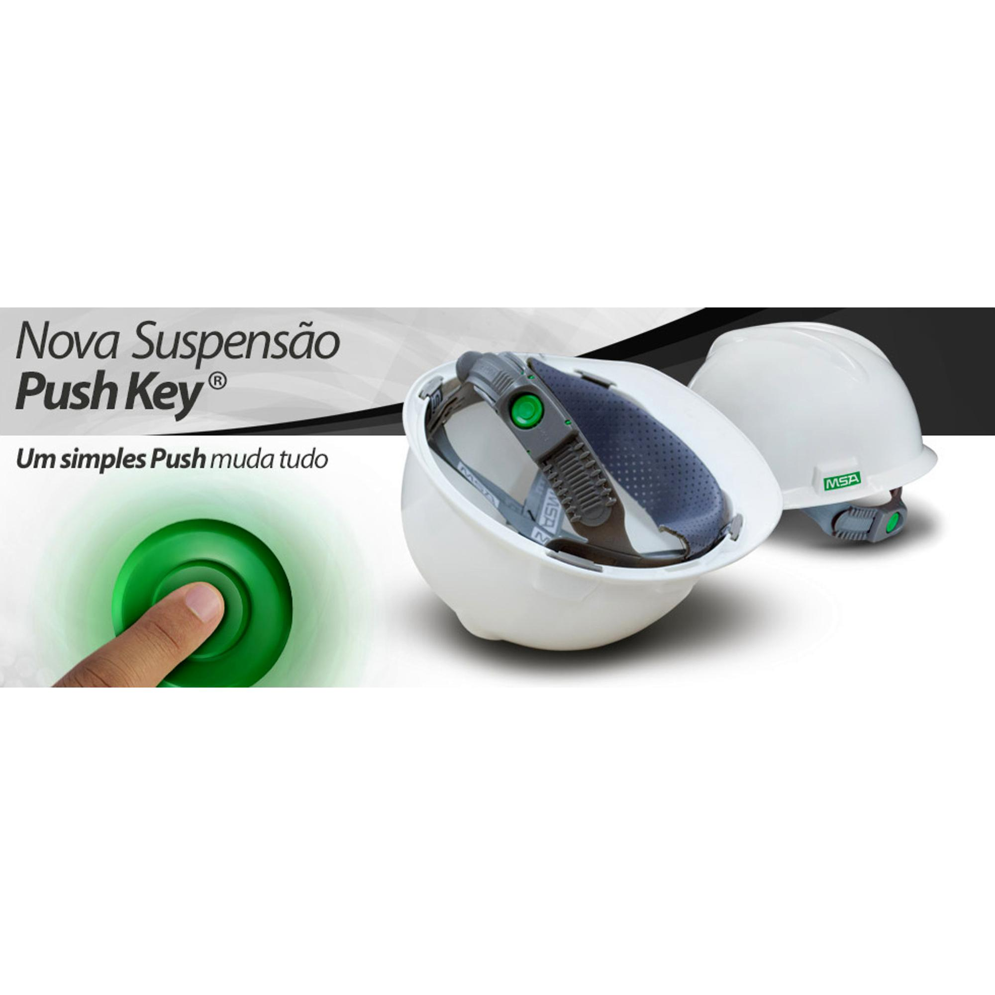 CAPACETE V-GARD  - PUSH KEY E JUGULAR - MSA  CA:498 BRANCO  - DE PAULA EPI