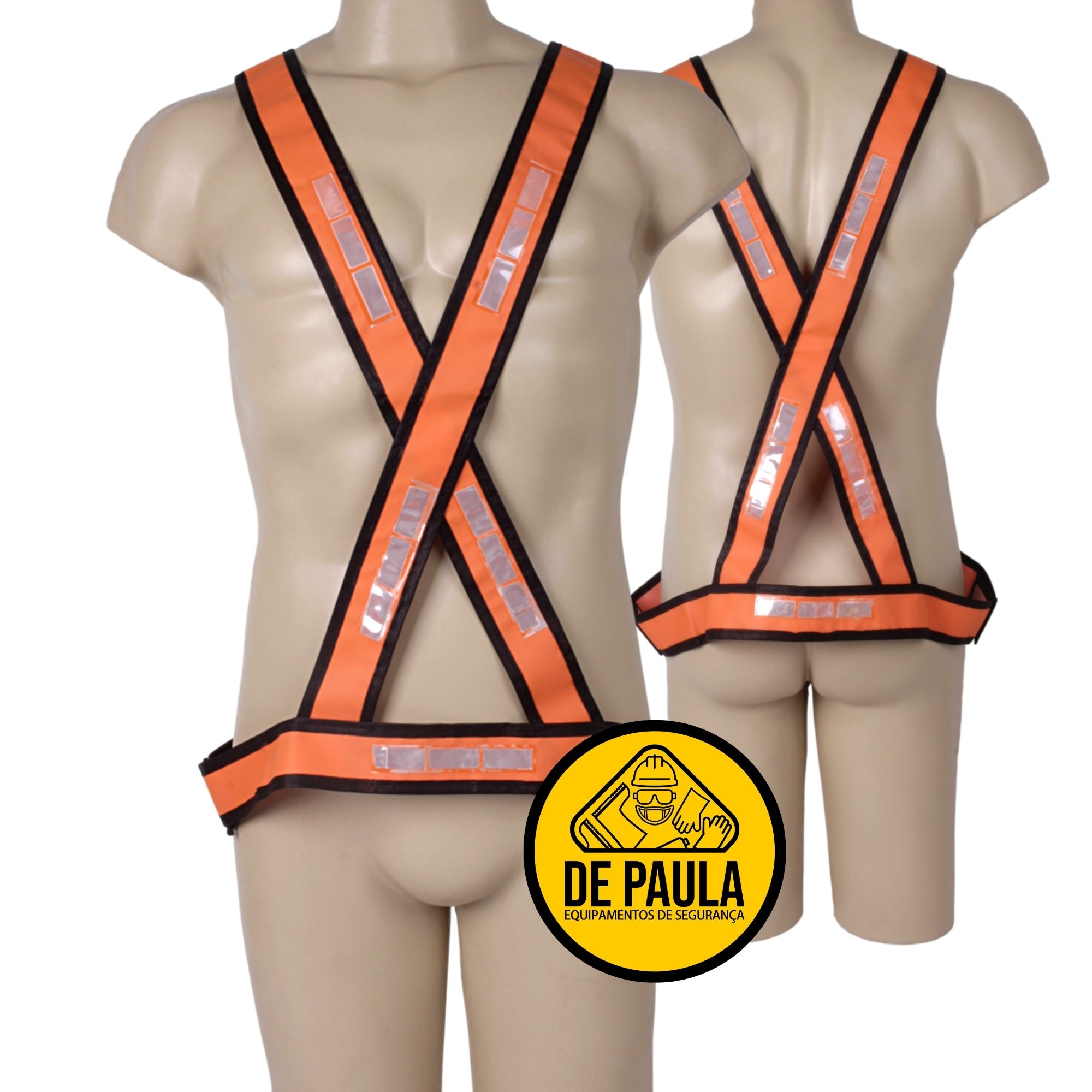 COLETE DE SEGURANÇA EM X COM RELETIVO  - PROTECT QUALITY  - DE PAULA EPI