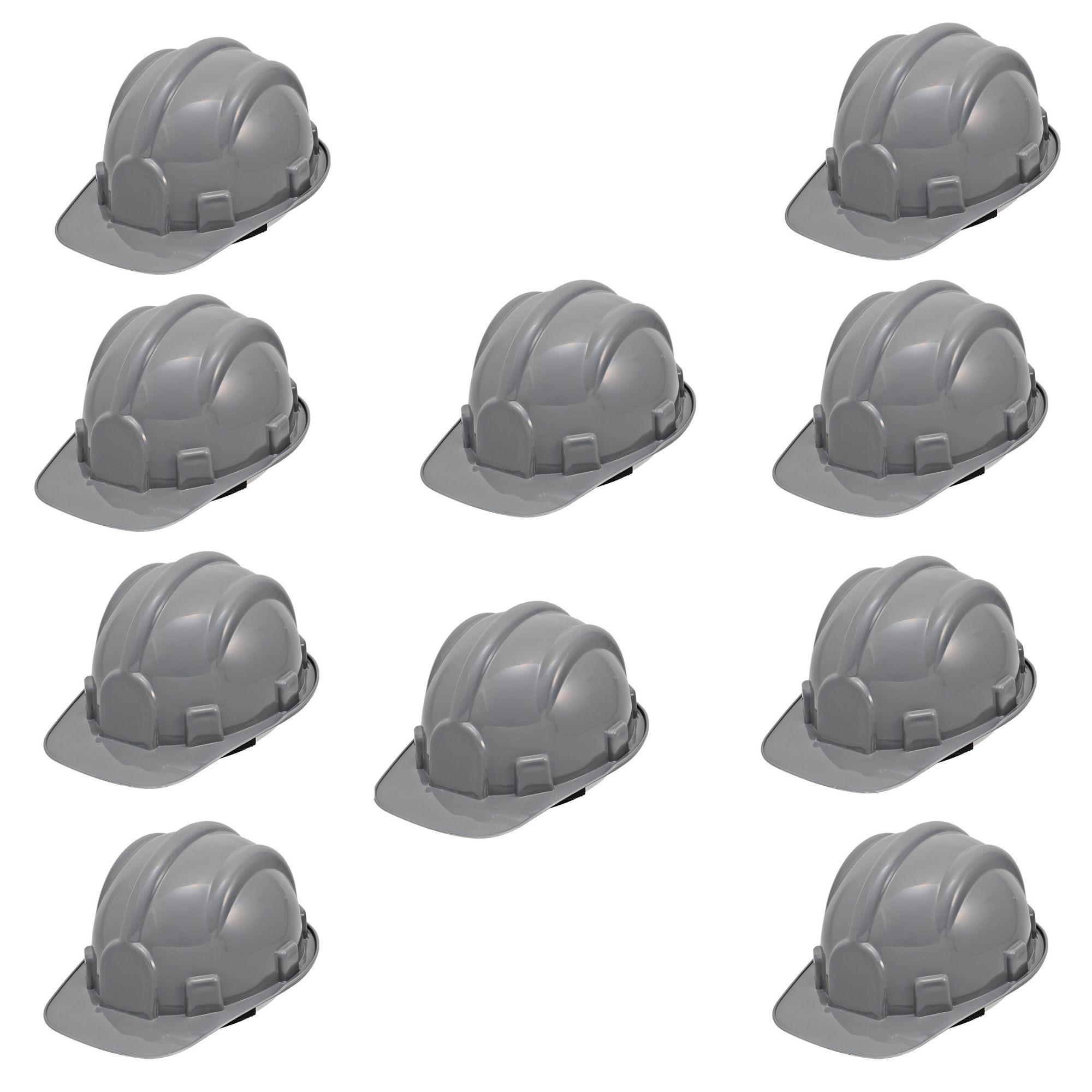 Kit 10 Pçs Capacete Segurança Classe A e B (contra impactos e choques elétricos) - Com Jugular  - DE PAULA EPI