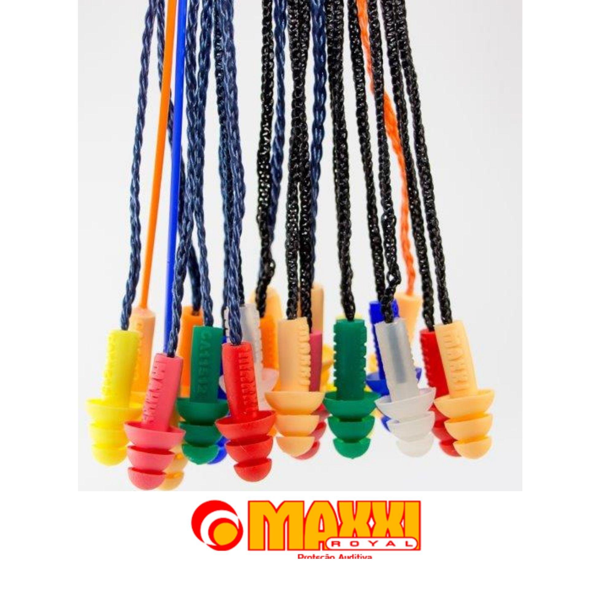 Kit 5 Pç Protetor Plug Auricular Ouvido Silicone Maxxi Royal