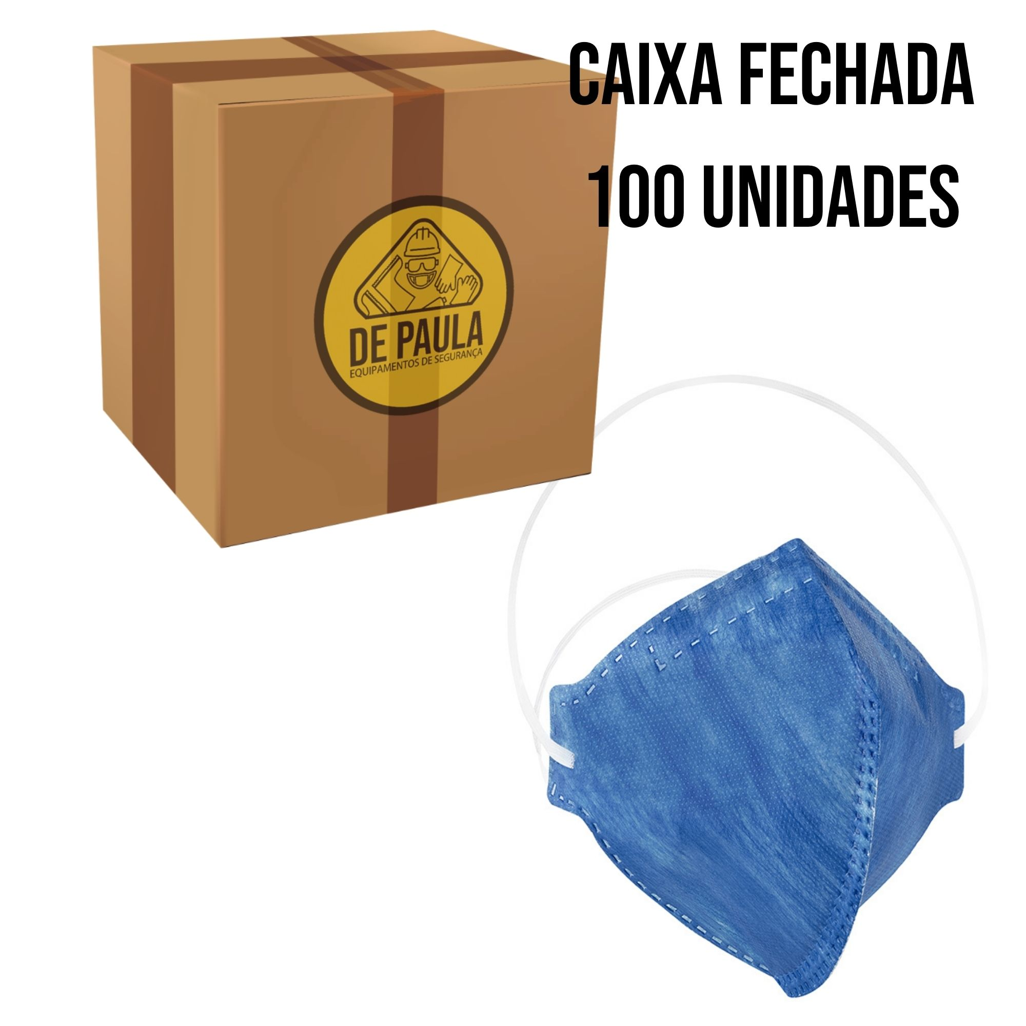 Kit de 100 unidades de Mascara Descartável Pff2-Pro Agro sem válvula - Delta Plus  - DE PAULA EPI