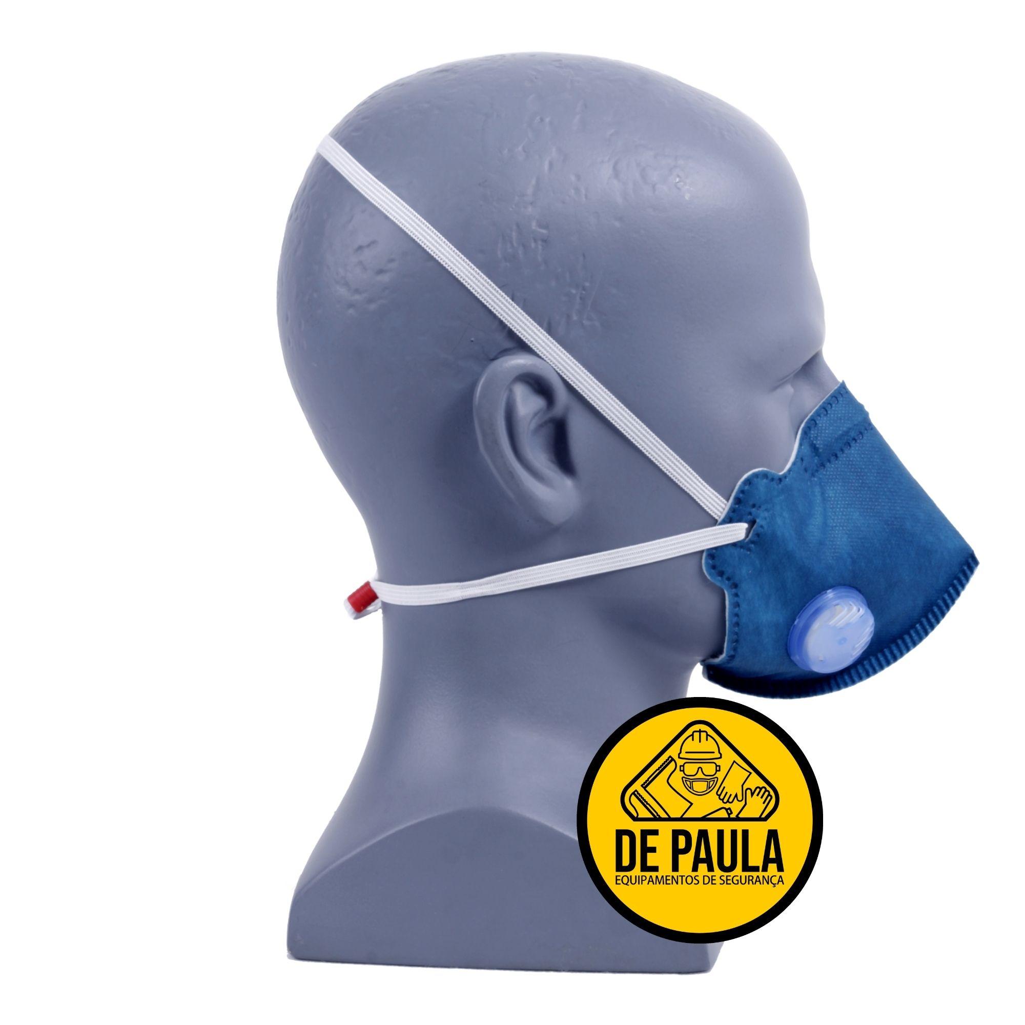 Kit de 10 unid Mascara Respiratoria PFF2 com valvula MASKFACE  AIR SAFETY  - DE PAULA EPI