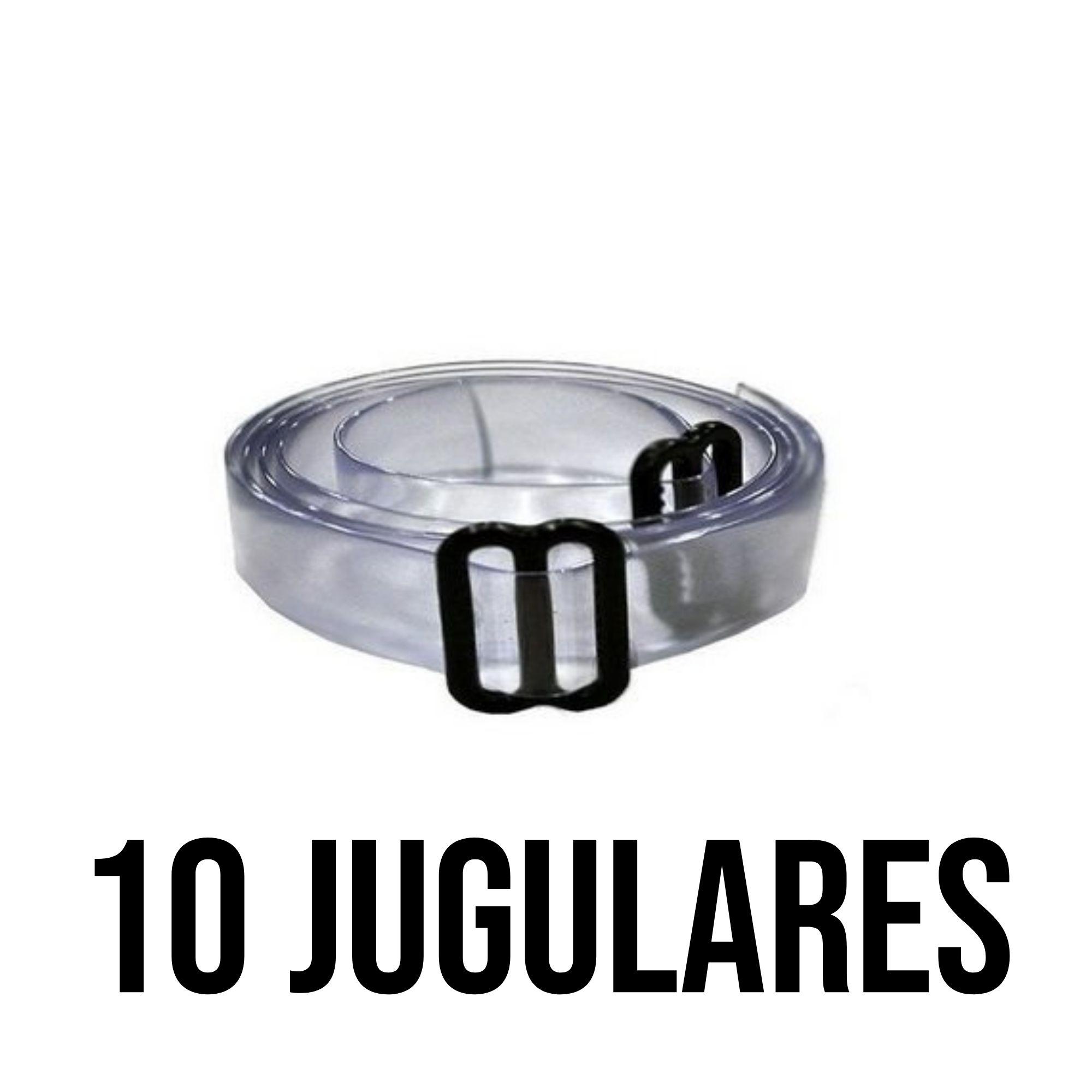 Kit de 10 unidades de JUGULAR DE SILICONE - PLASTCOR Cor: Transparente  - DE PAULA EPI