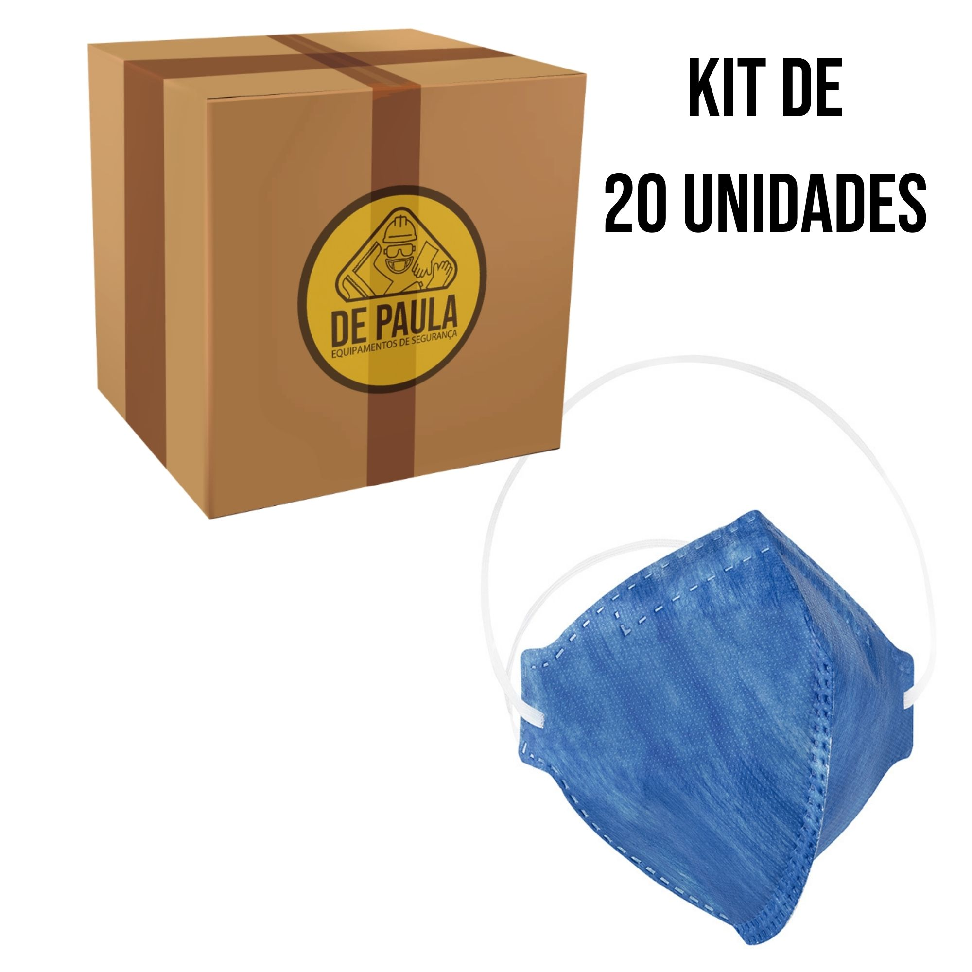 Kit de 20 unidades de Mascara Descartável Pff2-Pro Agro sem válvula - Delta Plus  - DE PAULA EPI