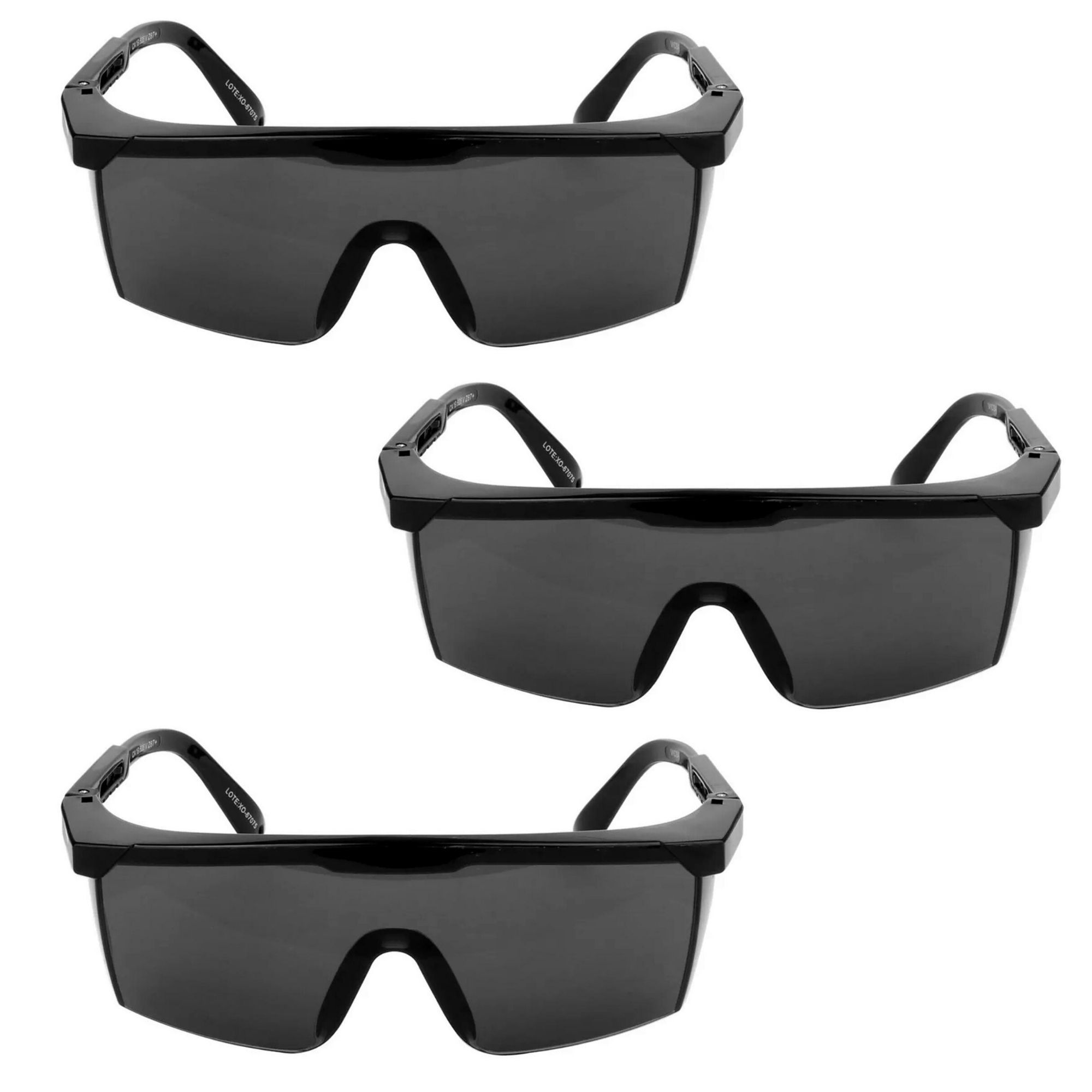 Kit De 3 Peças De Oculos Seguranca Nitro -- Rj Vicsa Cinza  - DE PAULA EPI