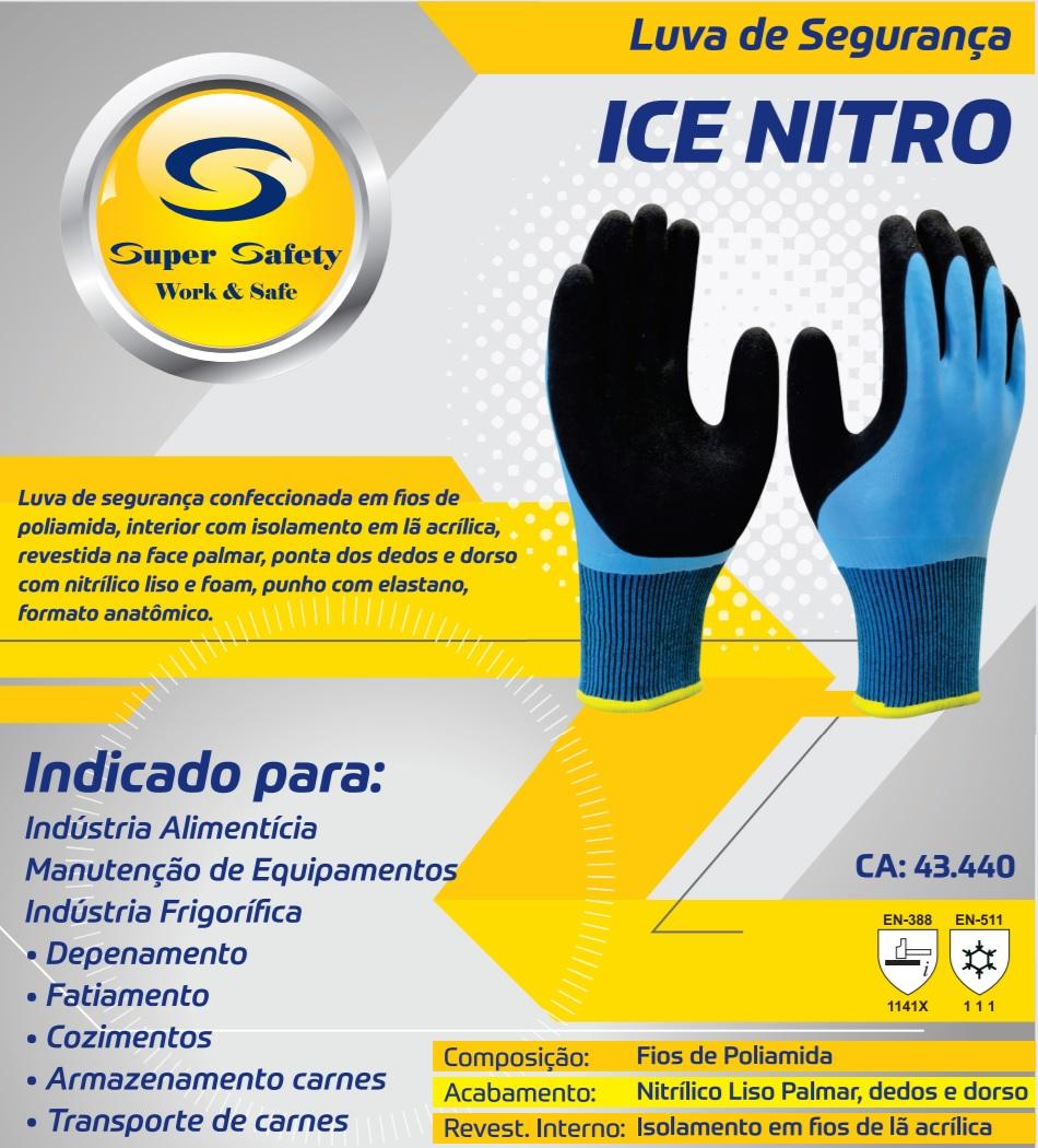 LUVA DE SEGURANÇA ICE LATEX - TAM. 9  FRIGORIFICO FRIO CA: 42.283  - DE PAULA EPI