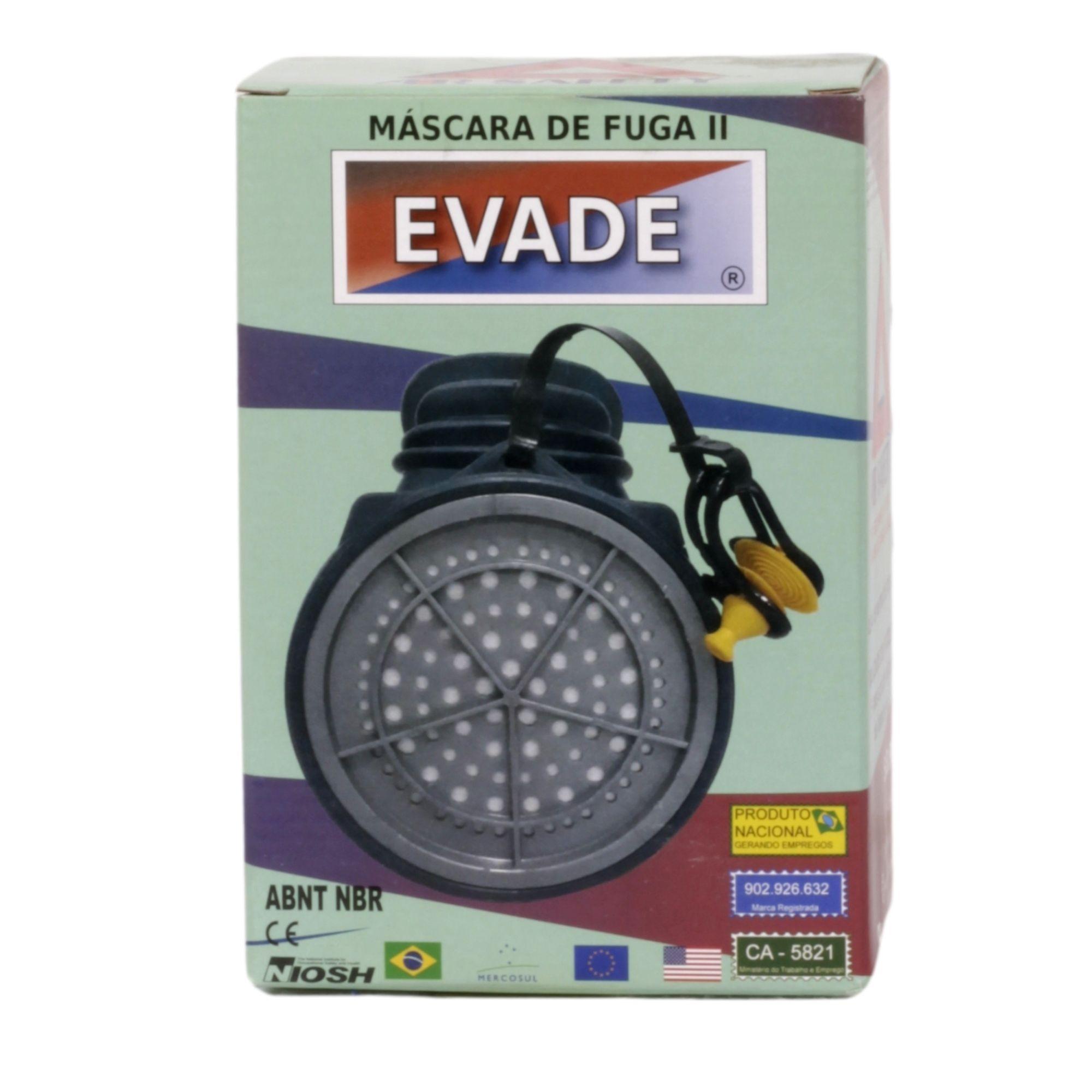 MASCARA DE FUGA II EVADE  AIR SAFETY ? CA Nº 5821  - DE PAULA EPI