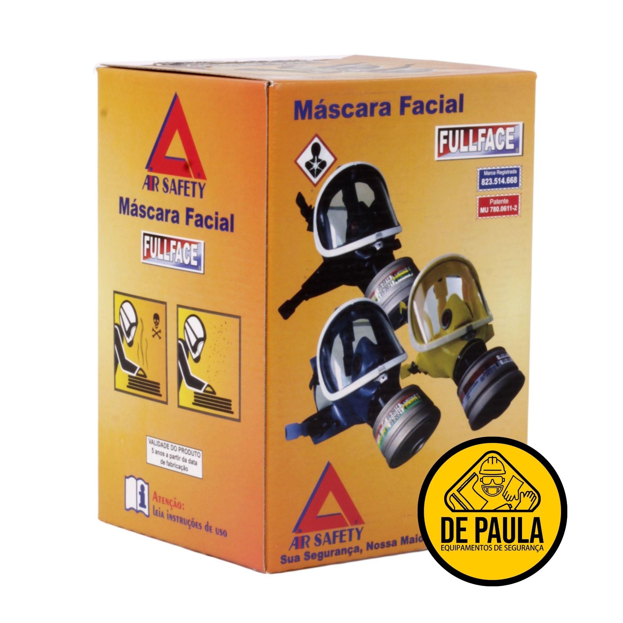 MÁSCARA PANORAMICA FULL FACE - AIR SAFETY - CA Nº 5758  - DE PAULA EPI
