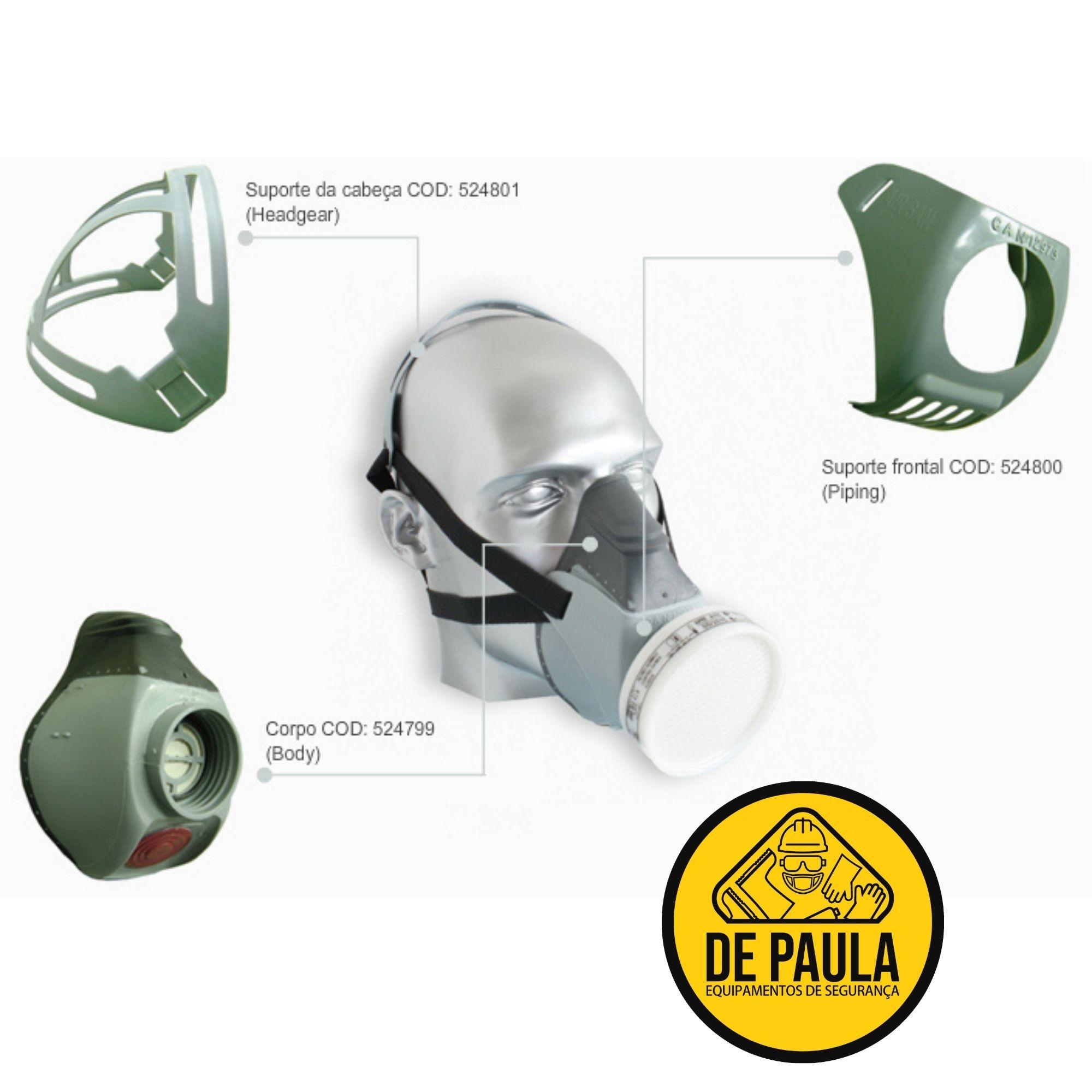 MÁSCARA RESPIRATÓRIA - AIR SAN COM FILTRO 400 A1B1 VO GA - AIR SAFETY