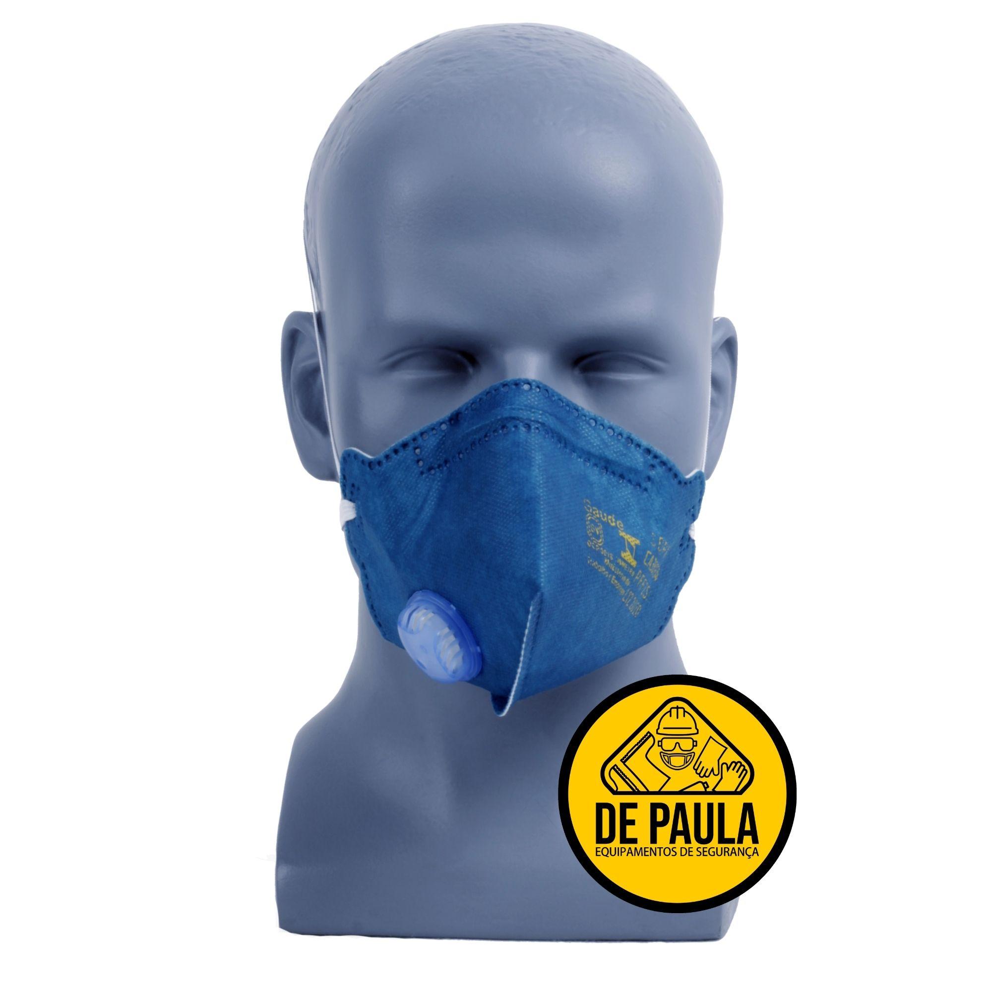 MASCARA RESPIRATÓRIA PFF2 COM VALVULA MASKFACE  AIR SAFETY  - DE PAULA EPI