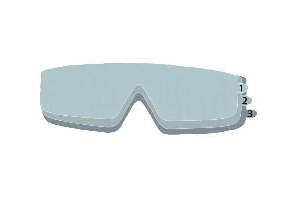 Óculos Ampla Visao Galeras Com 3 Peliculas Protetoras Lente