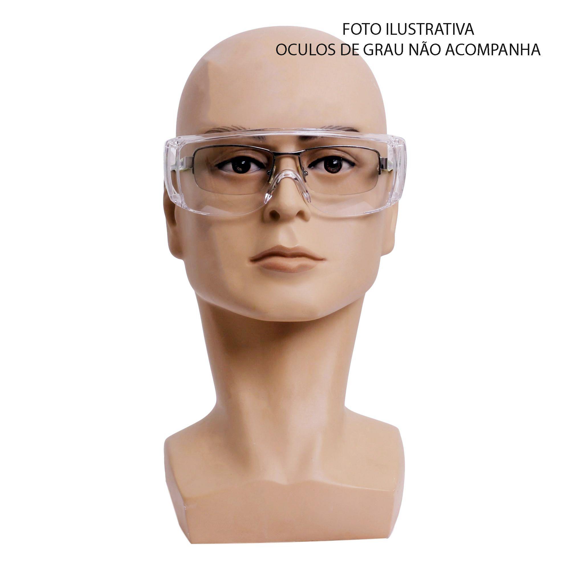 ÓCULOS SOBREPOR AO OCULOS GRAU SS-LAB SUPER SAFETY CA39.846  - DE PAULA EPI