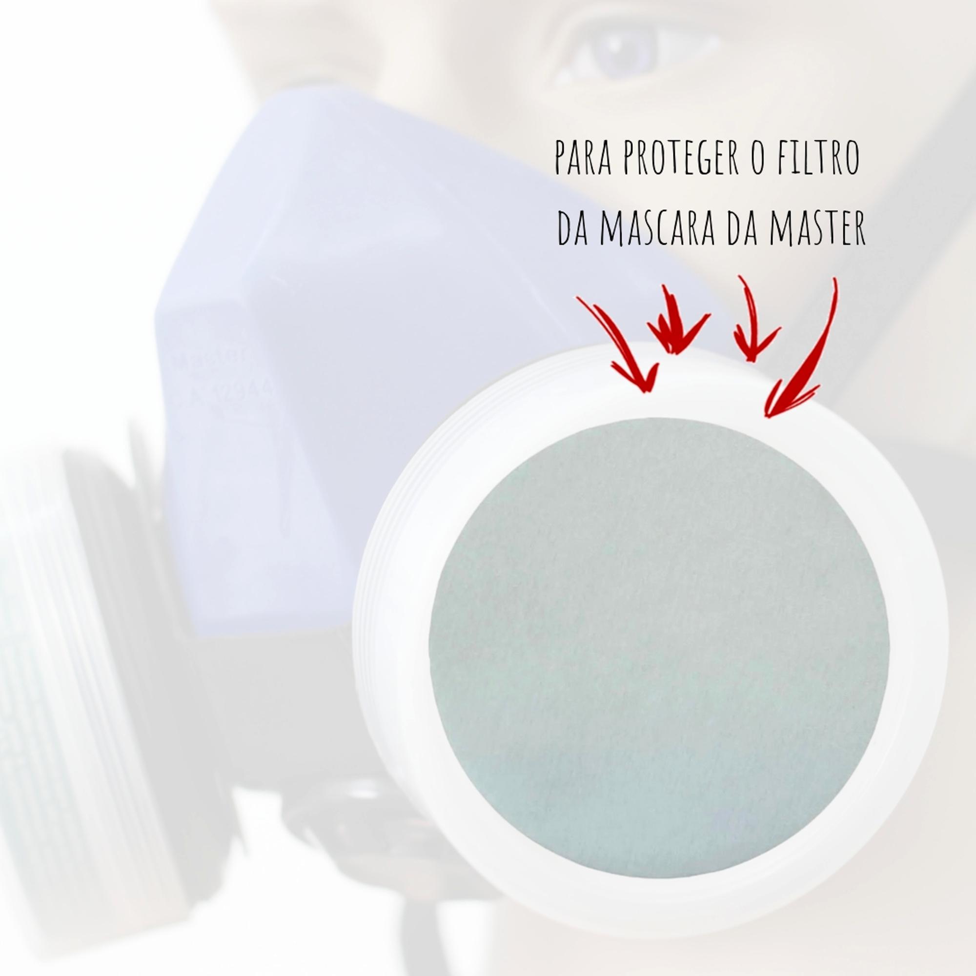 PRE-FILTRO PARA MÁSCARA TOP AIR IV - EMBALAGEM 12 PCS MASTER  - DE PAULA EPI
