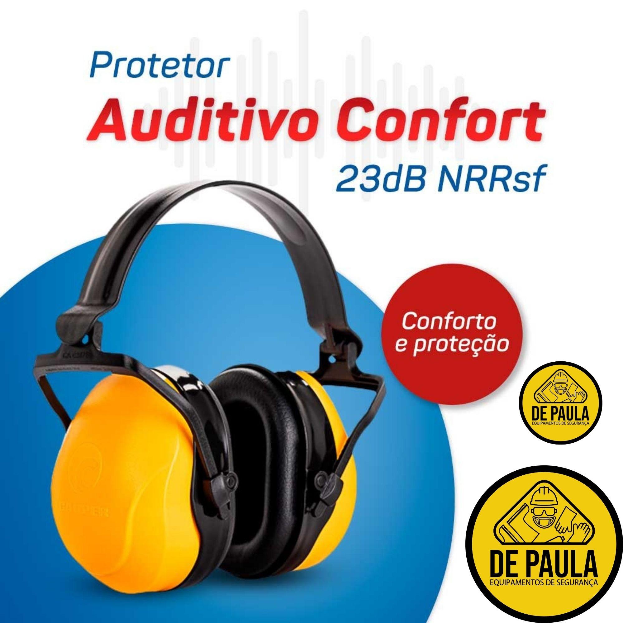 PROTETOR AUDITIVO CONCHA C-200 CONFORT CAMPER 23DB  - DE PAULA EPI