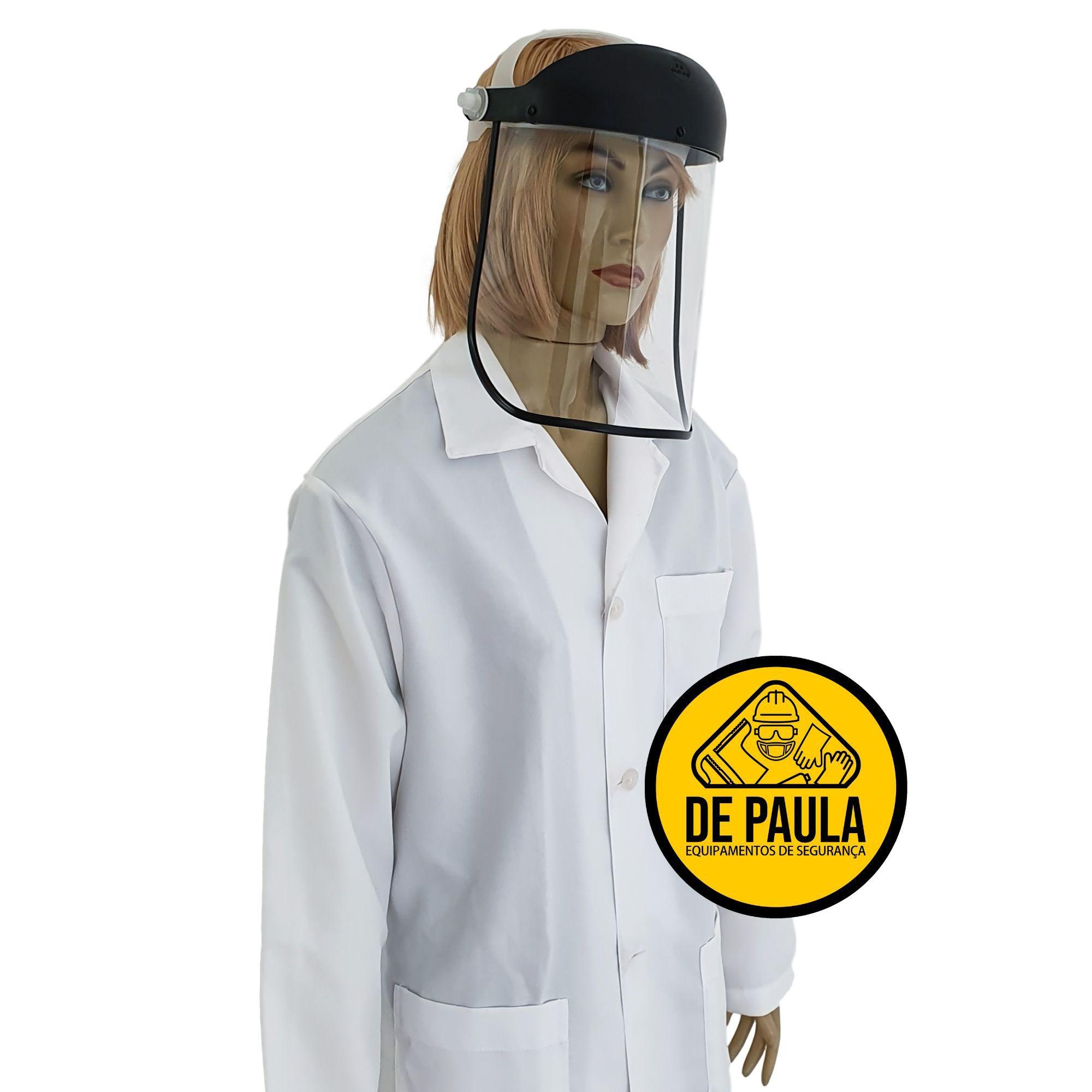 PROTETOR FACIAL  VISOR TRANSPARENTE INCOLOR SILOMINAS - CA:27.675  - DE PAULA EPI
