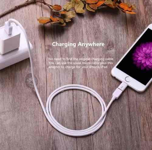 Adaptador Carregador Usb 8 Pinos Iphone X/7/8/6