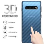 Adesivo Fibra Carbono Transparente 3d Galaxy S10 Plus