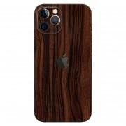 Adesivo Skin Premium Verso e Laterais Estampa Madeira  Iphone 12 Pro Max