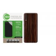 Adesivo Skin Premium Madeira Escuro Verso e Laterais para Galaxy A50