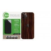 Skin Premium Verso e Laterais Estampa de Madeira para Iphone 12 Pro