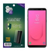 Película Premium HPrime Samsung Galaxy J8 - Curves PRO (Se Adere Na Parte Curva Da Tela)