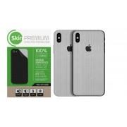 Skin Premium - Adesivo Estampa Aço Escovado iPhone X/XS Verso e Laterais
