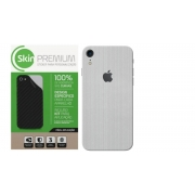 Skin Premium - Adesivo Estampa Aço Escovado Iphone Xr Verso e Laterais