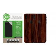 Skin Premium - Adesivo Estampa Madeira iPhone X/XS Verso e Laterais