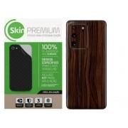 Skin Premium Adesivo Estampa madeira  Verso e laterais Samsung Note 20 Ultra