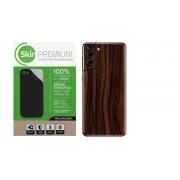 Skin Premium Estampa de Madeira Escura para Samsung Galaxy S21 Plus