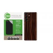 Skin Premium Estampa de Madeira Escura para Samsung Galaxy S21 Ultra