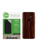 Skin Premium Estampa Madeira Verso e Laterais para Samsung Galaxy S9 Plus