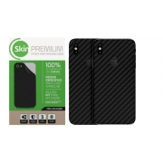 Skin Premium Verso e Laterais Fibra de Carbono para Iphone Xs Max