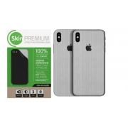 Skin Premium Verso e Laterais Estampa de Aço Escovado para Iphone Xs Max