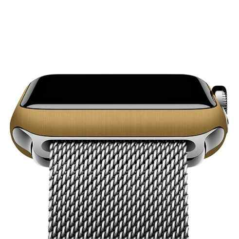 Adesivo Skin Premium Ouro Escovado Apple Watch 42mm Series 1