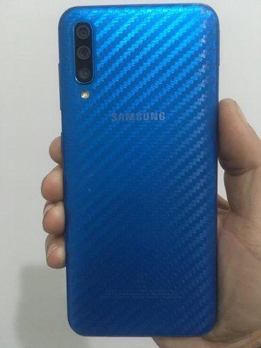 Adesivo - Fibra De Carbono Transparente 3d Galaxy A50