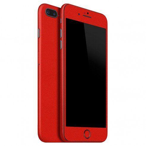 Skin Premium Jateado Fosco Vermelho Iphone 8 Plus