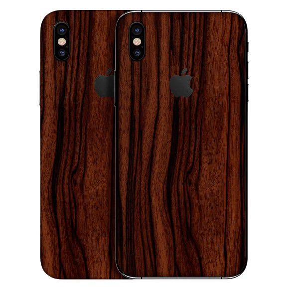 Adesivo Skin Premium Estampa Madeira Apple Iphone Xs Max