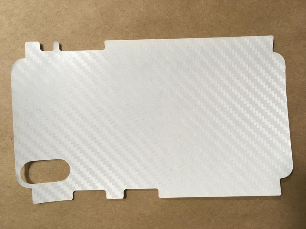 Adesivo Fibra Carbono 3D Transparente Para Iphone Xs Max