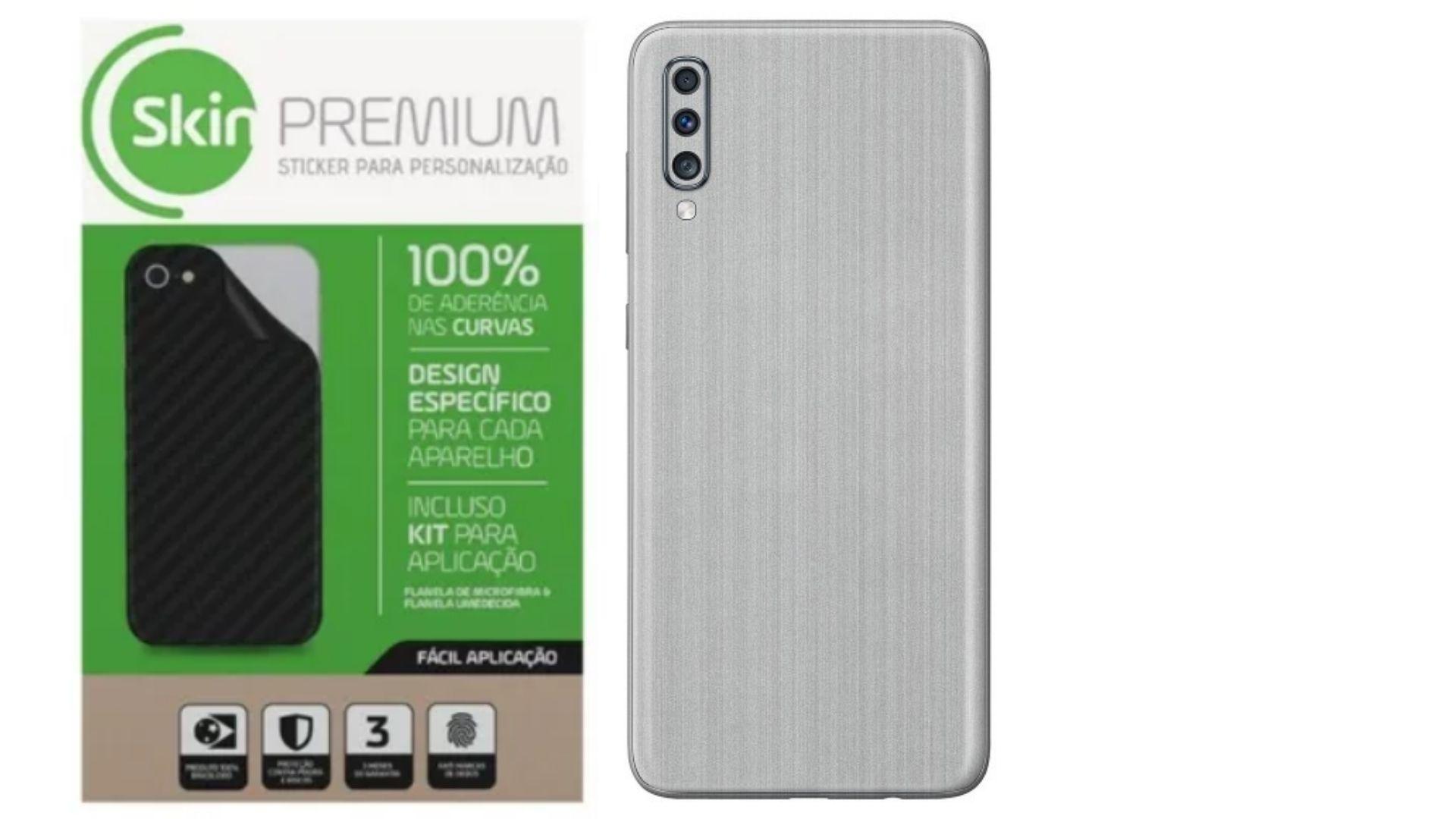 Adesivo Skin Premium Aço Escovado Verso e Laterais para Galaxy A50