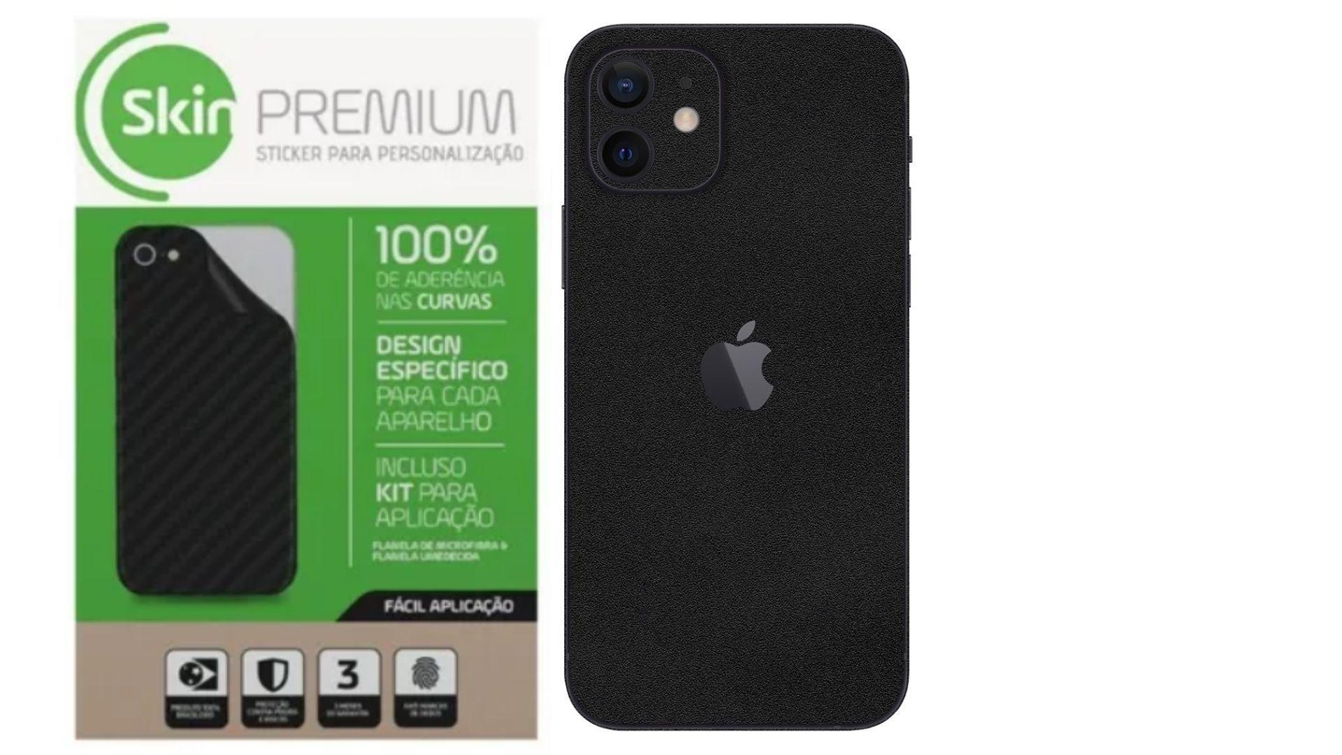 Skin Premium Verso e Laterais Jateado Fosco para Iphone 12