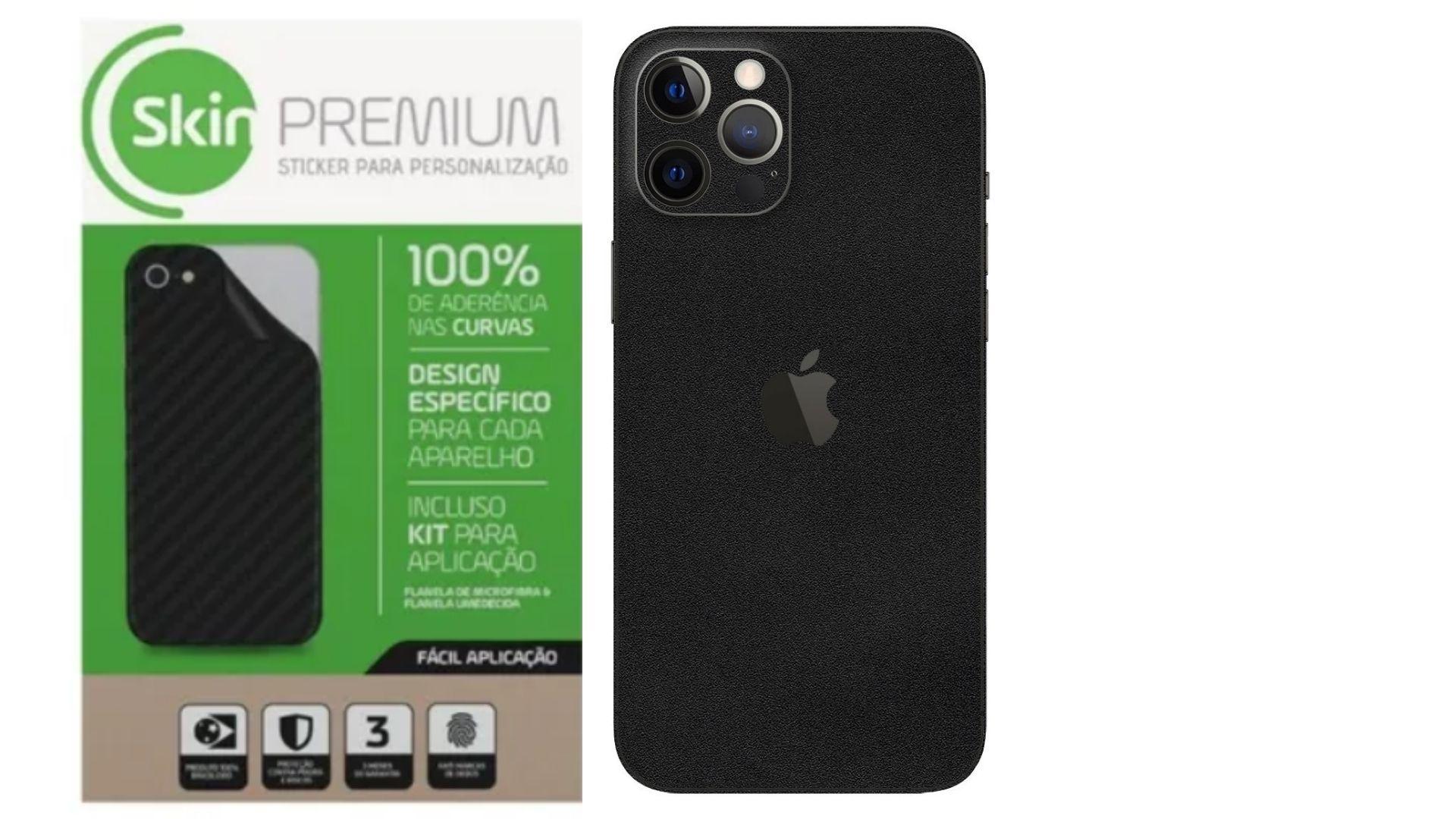 Skin Premium Verso e Laterais Jateado Fosco para Iphone 12 Pro Max