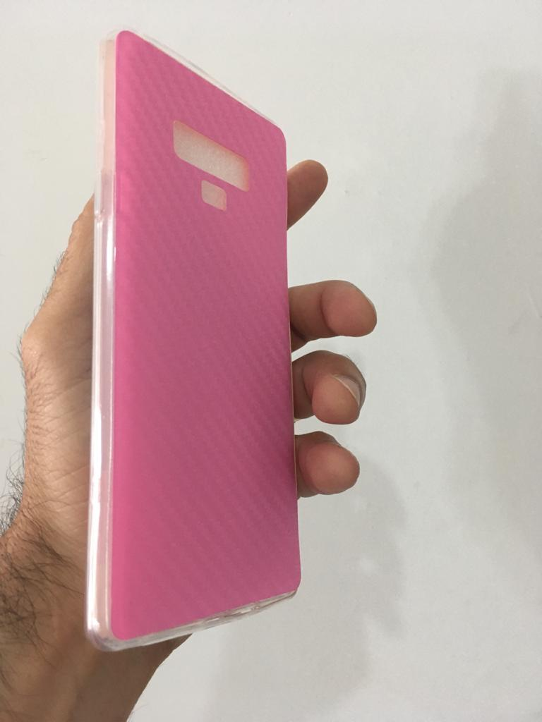 Capa 360 Flexível Adesivado Fibra Carbono Galaxy Note 9